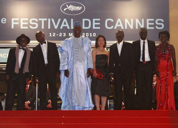 """""""Un homme qui crie"""" équipe du film à Cannes, 2010"""